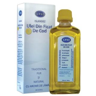 Uleiul din ficat de cod LYSI şi vitaminele D şi A
