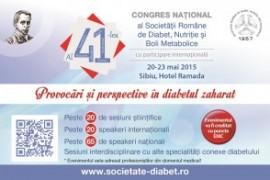41 de zile până laal 41-lea Congres Național al Societății Române de Diabet, Nutriție și Boli Metabolice