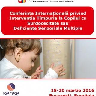 Conferința Internațională privind Intervenția Timpurie la Copilul cu Surdocecitate sau Deficiențe Senzoriale Multiple