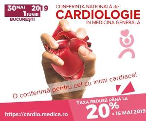 Invitatie Conferința Natională de Cardiologie in Medicina Generală (30 mai – 1 iunie, București)