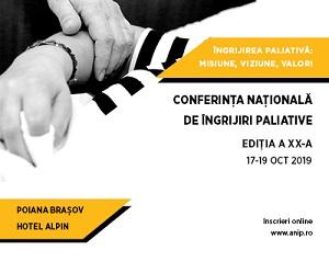 A XX-a Conferință Națională de Îngrijiri Paliative: VIZIUNE, MISIUNE ȘI VALORI