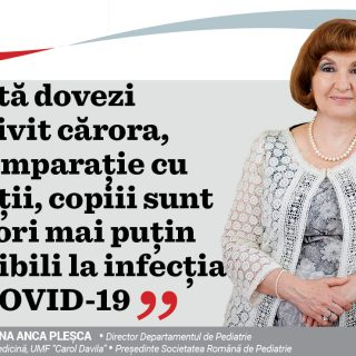 Interviu cu Prof. Dr. Doina Anca Pleșca – Președinte Societatea Română de Pediatrie