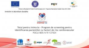 Totul pentru inima ta – program de screening pentru pacienții cu risc cardiovascular