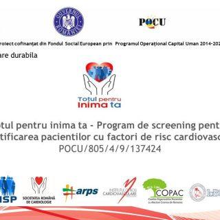"""INSP inaugureaza proiectul """"Totul pentru inima ta – program de screening pentru identificarea pacientilor cu factori de risc cardiovascular"""""""