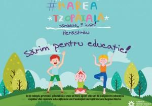 Sute de părinți și copii așteptați la #Marea Tzopăială să facă sport și fapte bune