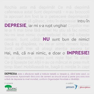 Depresie, nu impresie