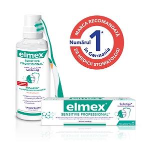 Calmarea imediată și de durată adurerii dinților sensibili cu pasta de dinți elmex Sensitive Professional